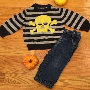 Cherokee Skull Sweater & Jeans Set Boys 12 Months